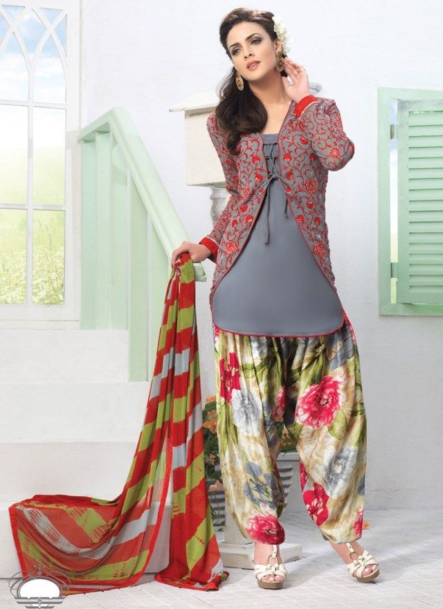 patiala suit with jacket pattern