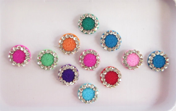 round shape bindi design