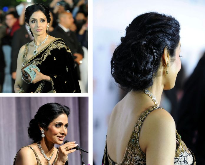 hairstyle for saree pictures