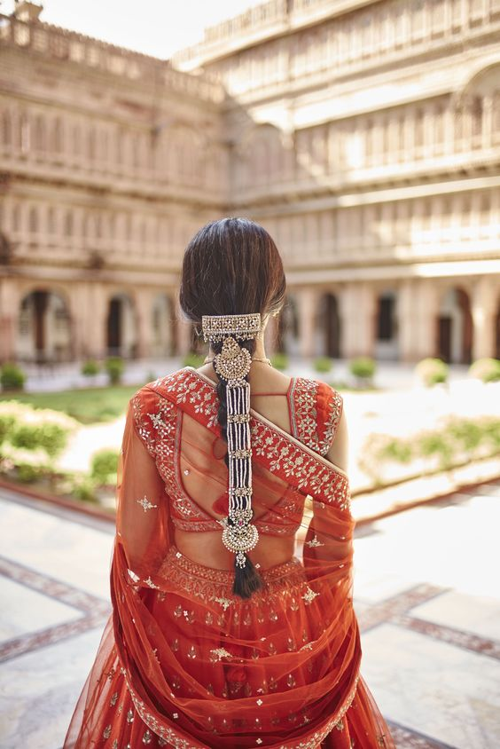 hairstyle for lehenga step by step