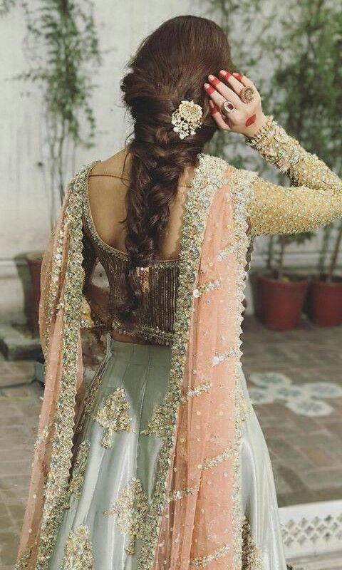 reception hairstyles for lehenga