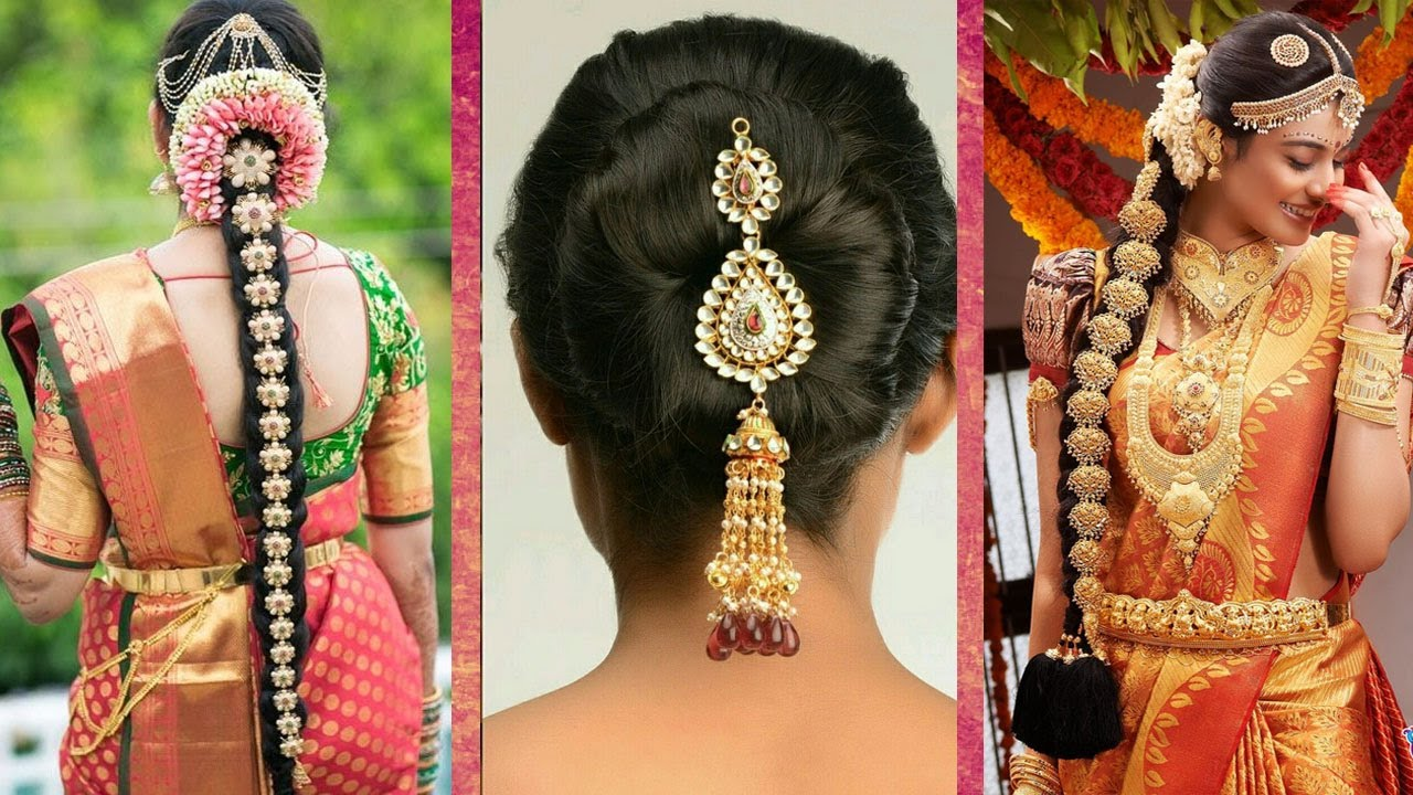 Stunning Indian Wedding Hairstyle For Long Hair