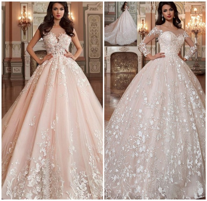 Lace And Beads Applique Gown Online