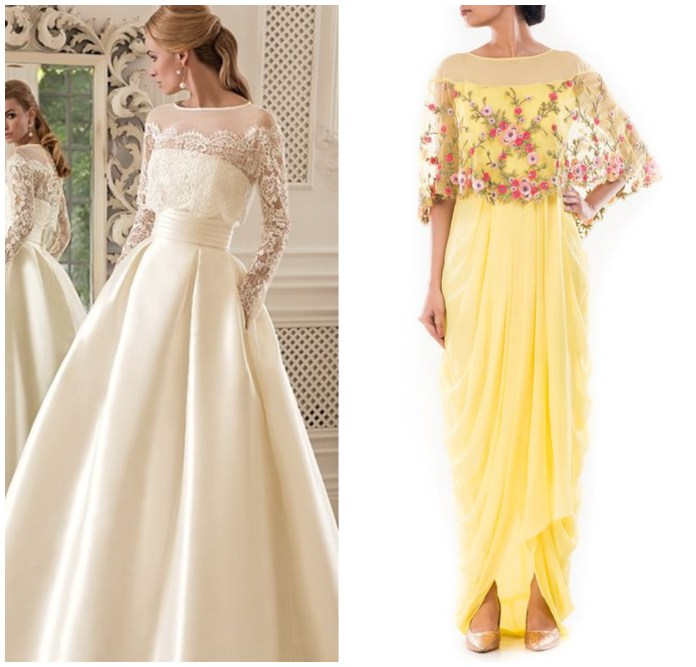 Cape Style Gown Online