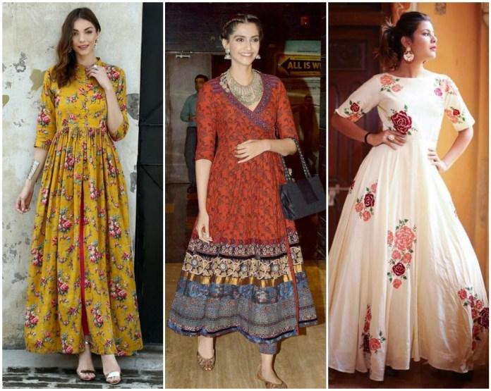 Cotton Designer Anarkali