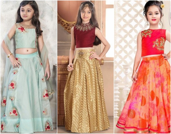 Crop Top Type Girlish Lehenga