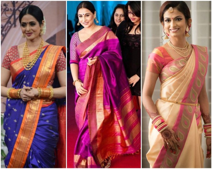 Double Border Kanchipuram Silk Saree