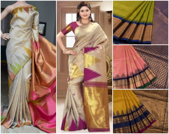 Temple Border Kanchipuram Silk Saree