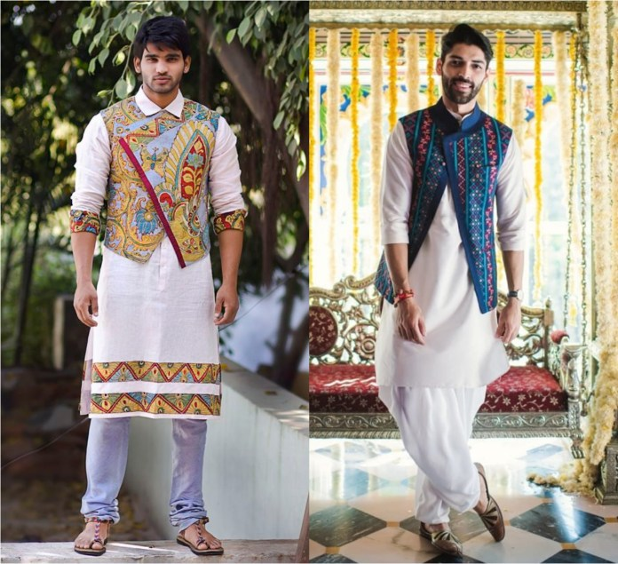 Kurta Pajama With Traditional Jacket
