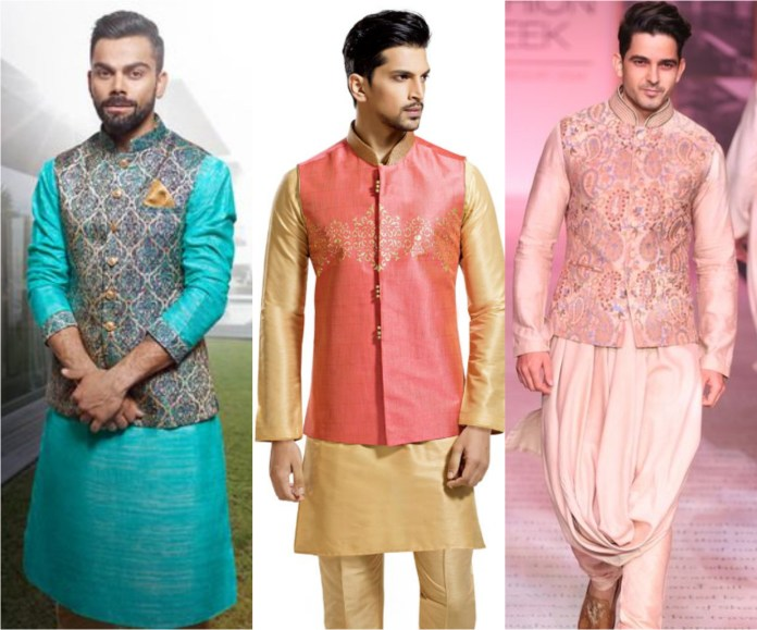 Raw Silk Kurta Pajama With Jacket