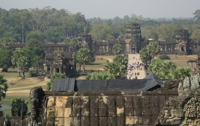 View from Angkor Wat of the temple grounds