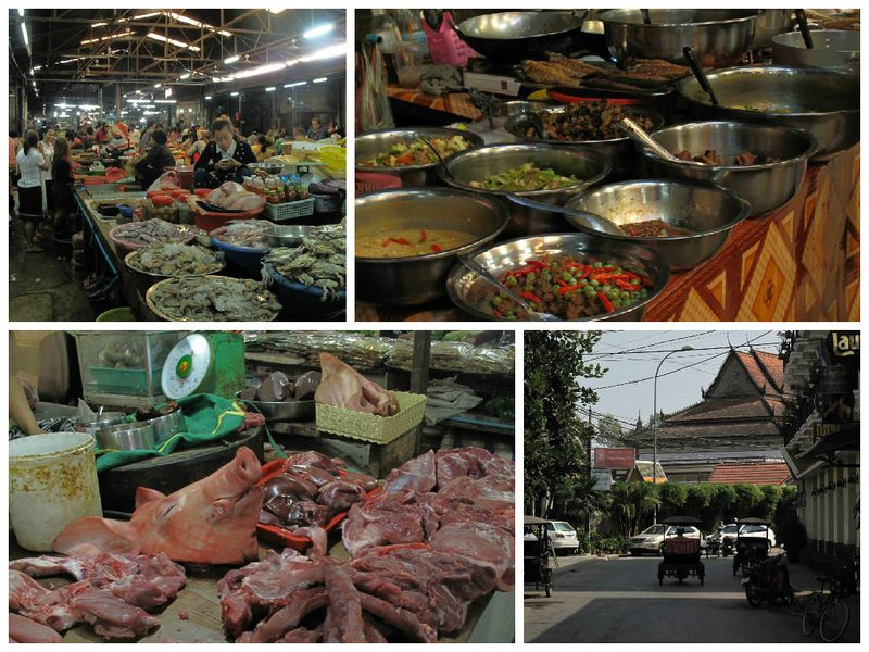 Food at Siem Reap market