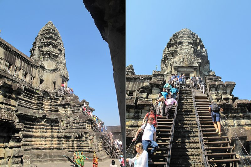 The stairs to Angkor Wat