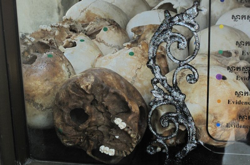 Skulls at the Killing Fields