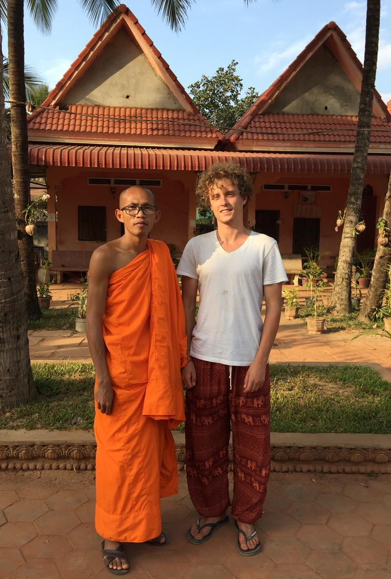 A Buddhist monk and a Westerner