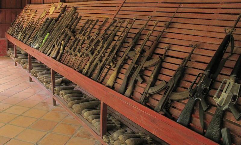 Guns at Siem Reap War Museum