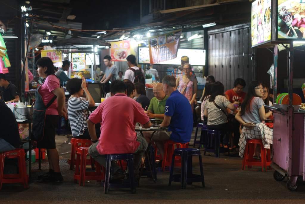 Street eating in Penang