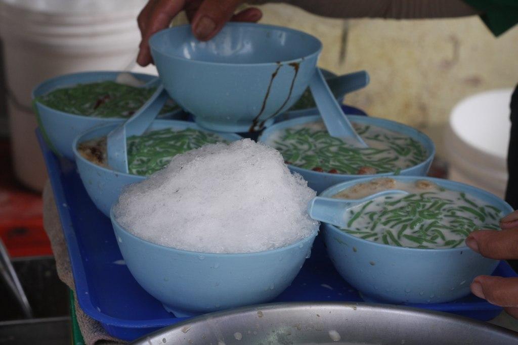 Cendol in bowl