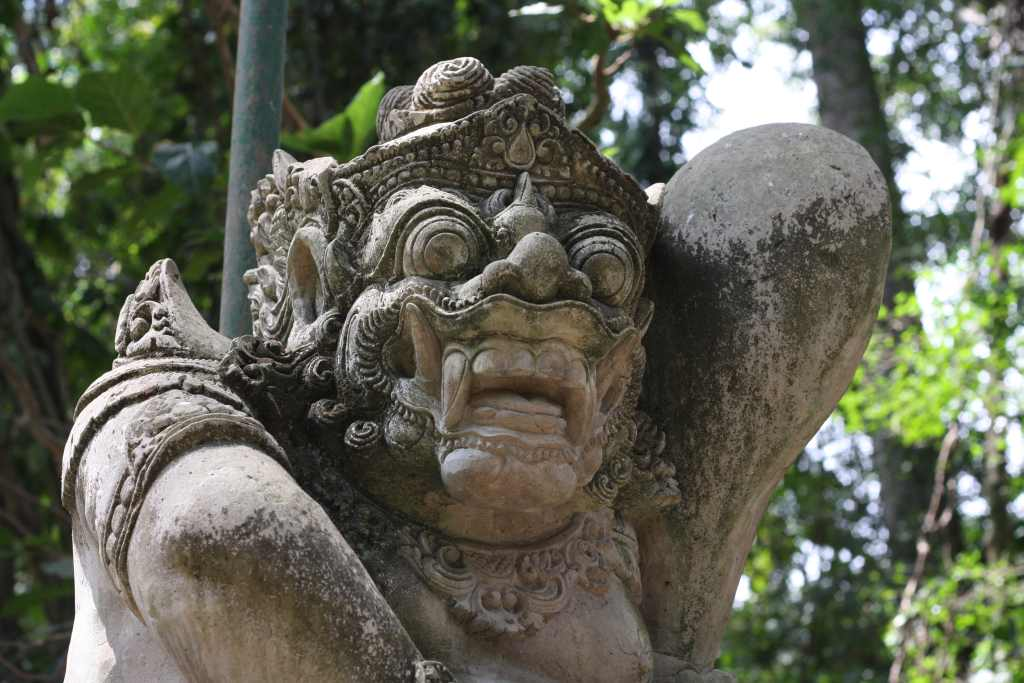 Statue at Ubud Monkey Forest
