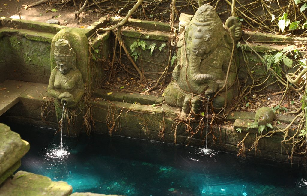 Spring water at sacred temple