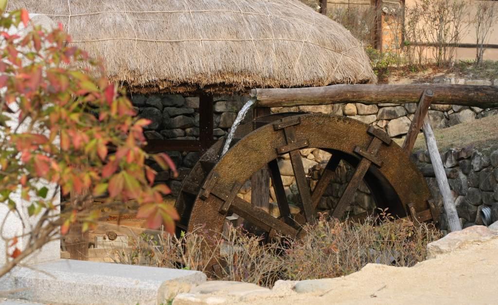 Korean watermill at Andong Folk Museum