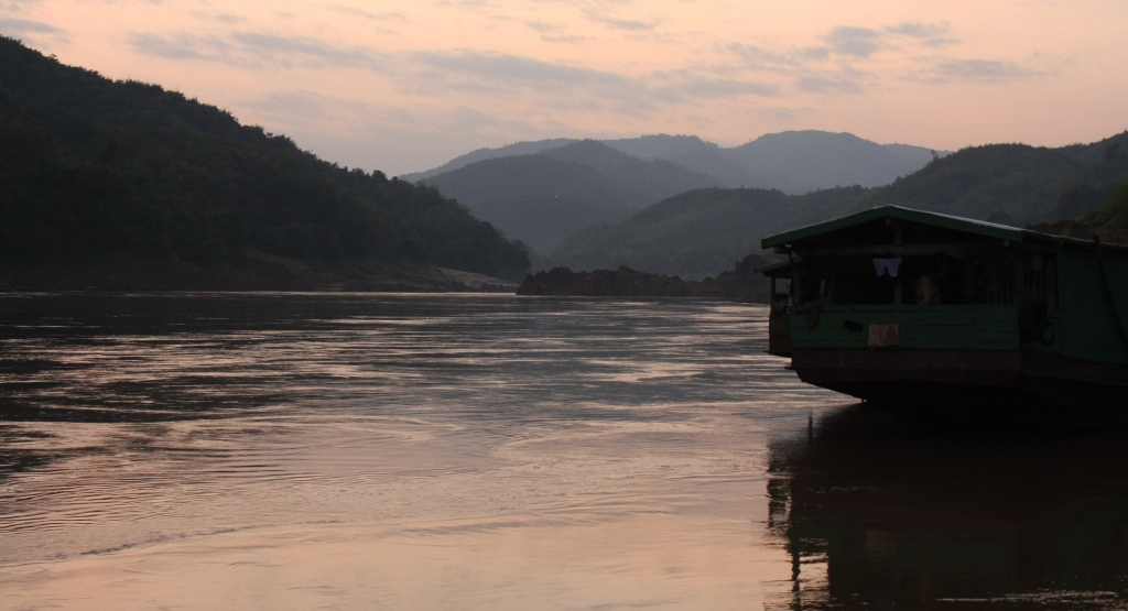 The Mekong at dusk