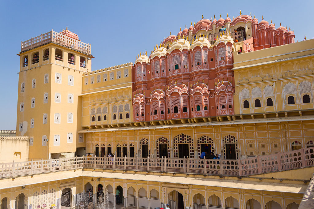 The other side of the Hawa Mahal