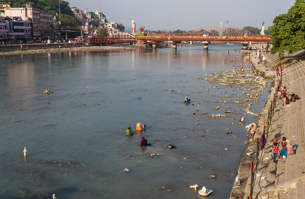 The river Ganges at Haridwar