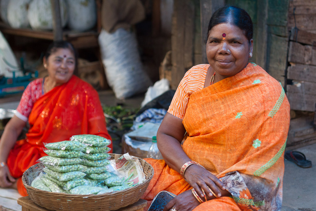 Indian woman at market