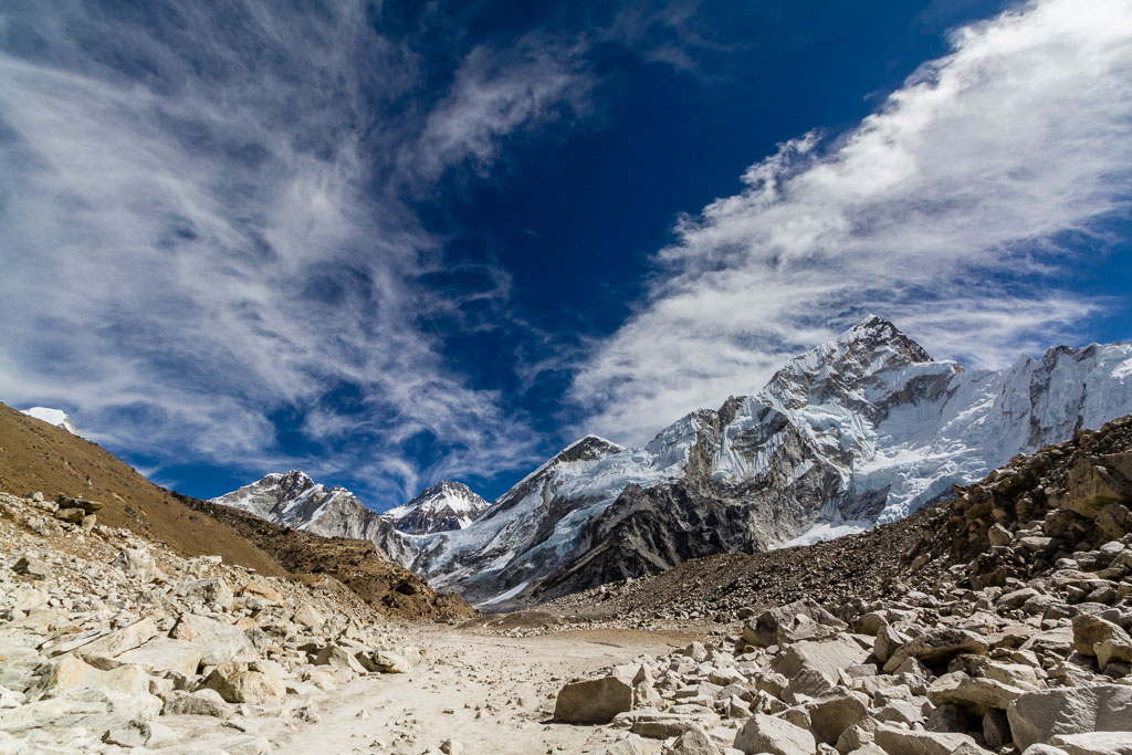 The trail to Everest Base Camp