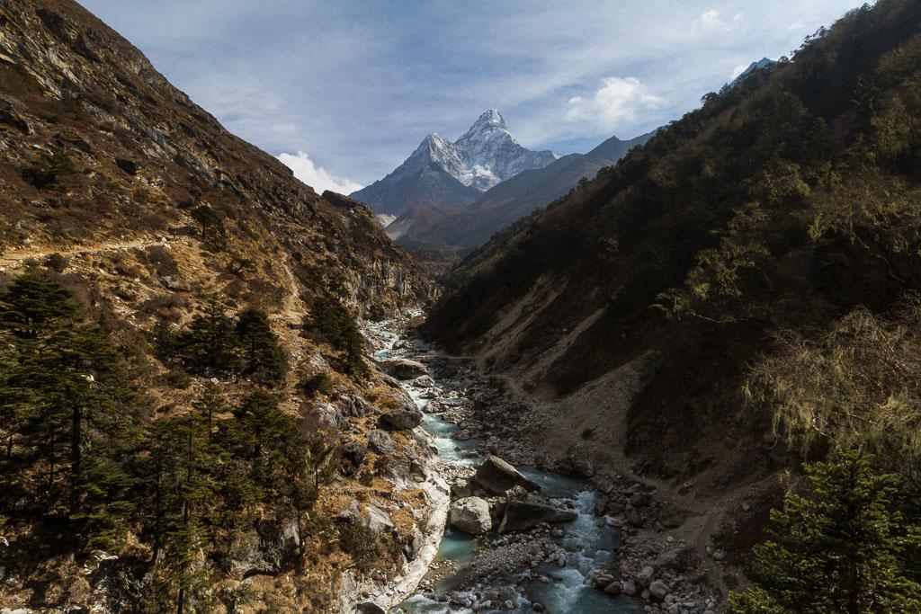 The Imja Khola River