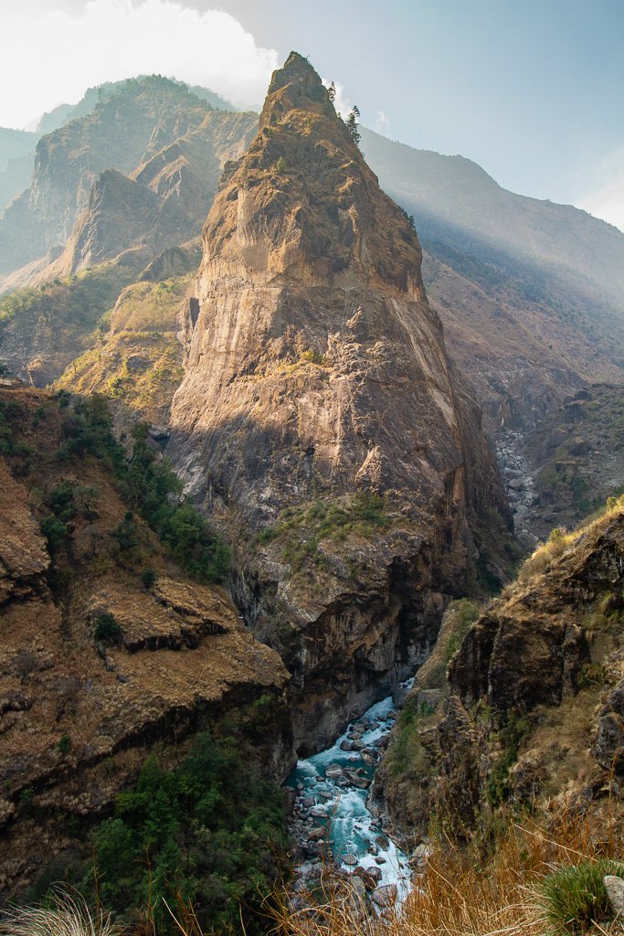 the Marsyangdi gorge