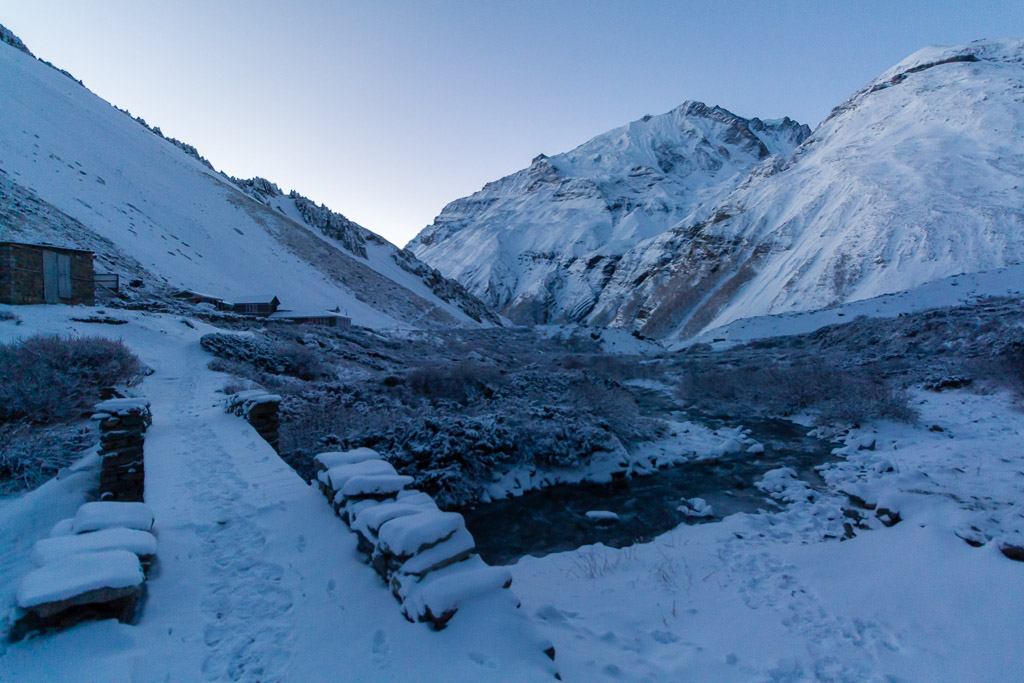 Tilicho Base Camp at dawn