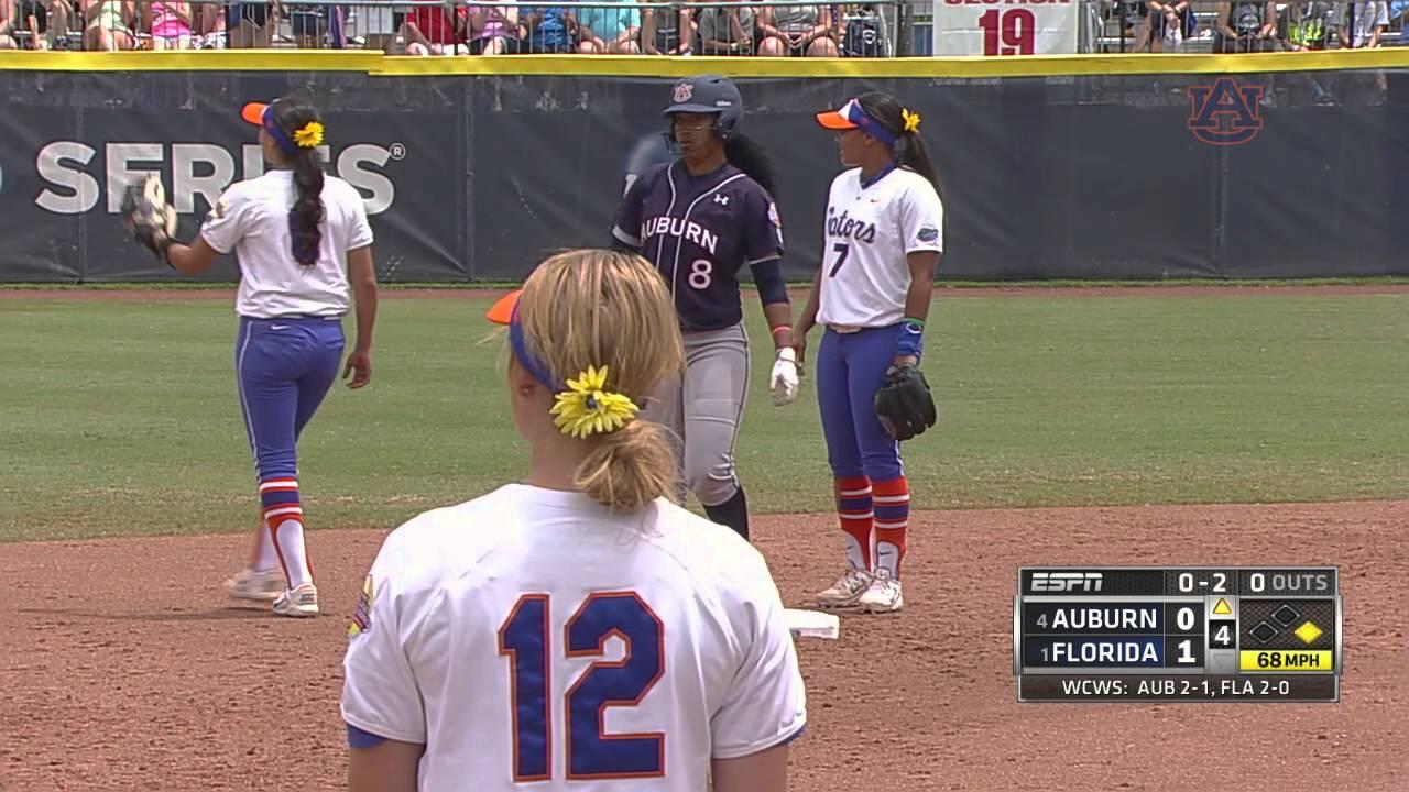 Auburn Softball Vs Florida WCWS Highlights