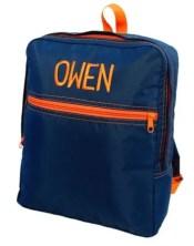 Navy OrangeKids Backpack