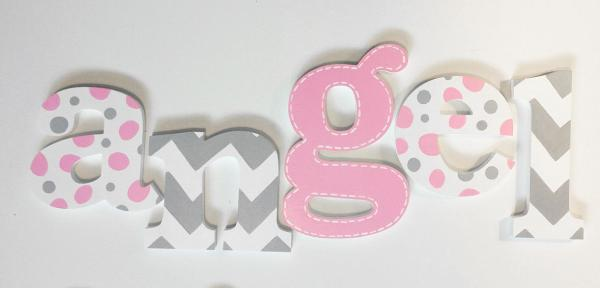 Chevron Wooden Letters
