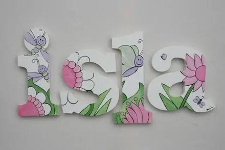 garden fun wooden letters