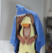 Personalized Hooded Towel for Adults - Shark