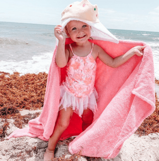 Personalized Hooded Towel for Kids - Princess
