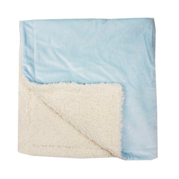 Personalized Sherpa Blanket - Blue