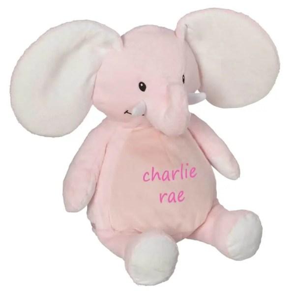 Personalized Stuffed Animal - Pink Elephant