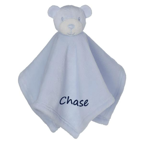 Personalized Blanky - Beary Sweet Blue