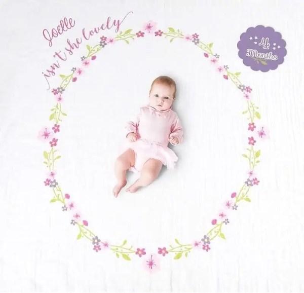 Baby Milestone Blanket - Isn't She Lovely