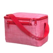 personalized lunch box - red chambray