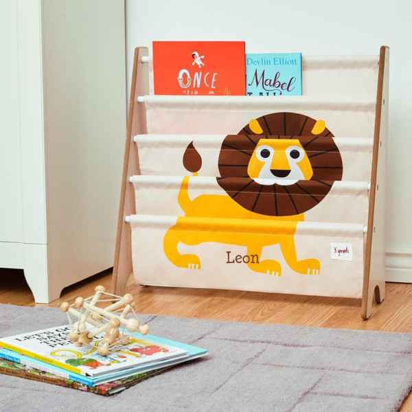 3 Sprouts Book Rack - Lion