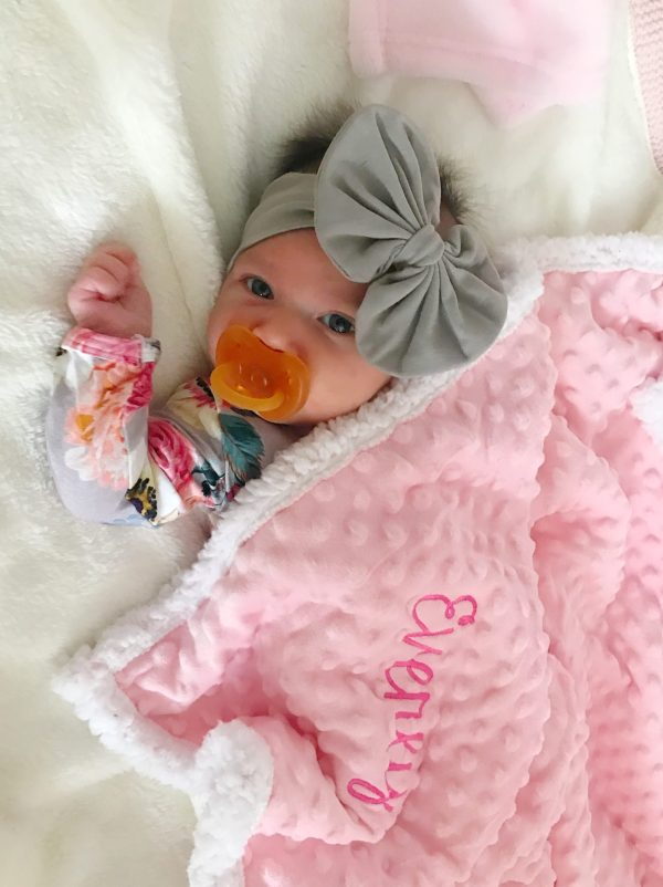 Personalized Baby Blanket - Pink Popcorn