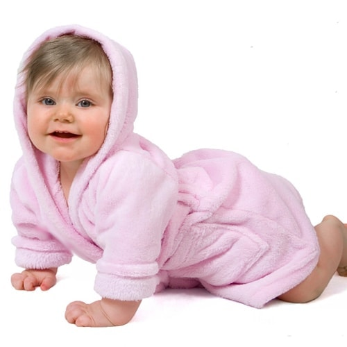 Personalized Baby Robe Pink