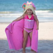 Hooded Kids Towel - Butterfly