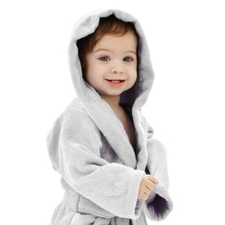 Personalized Baby Robe Grey