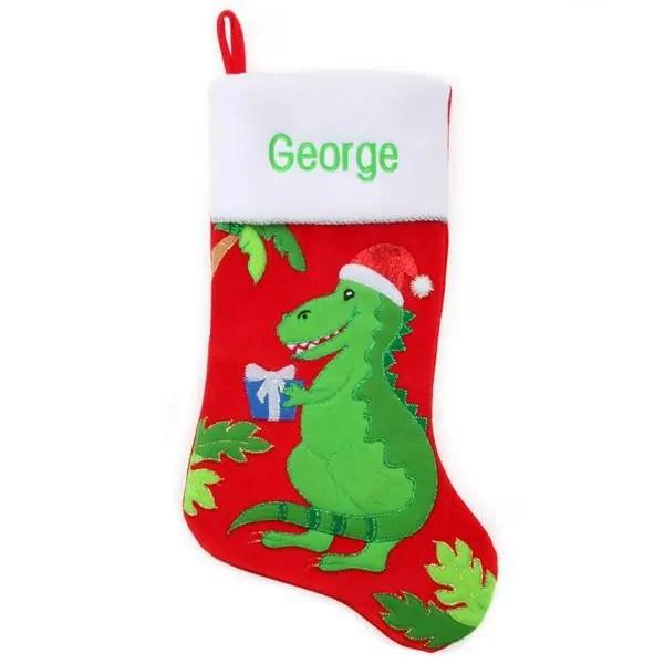 Personalized Christmas Stocking - Dinosaur